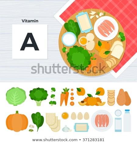 étel kiegészítő emberek képzés izolált ikon szett Stock fotó © robuart