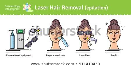 Spa salon włosy usuwanie nogi piękna Zdjęcia stock © robuart