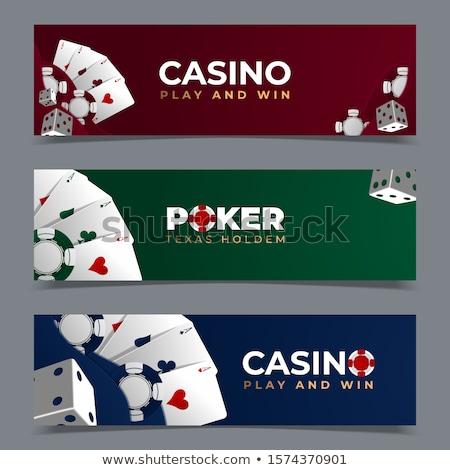 kaszinó · neon · kártyák · póker · szimbólumok · üres - stock fotó © anna_leni