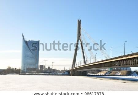 Riga Cable bridge Stock photo © 5xinc