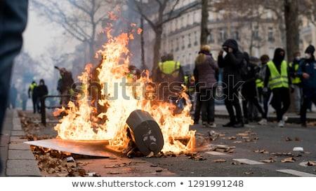 siyasi · protesto · gösteri · sokak · ralli · mikrofon - stok fotoğraf © lightsource