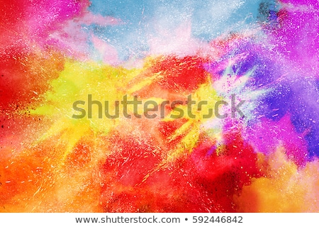 abstrato · feliz · flor · primavera · mão · pintar - foto stock © sarts