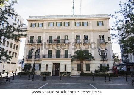 sala · España · ciudad · cielo · edificio · reloj - foto stock © benkrut