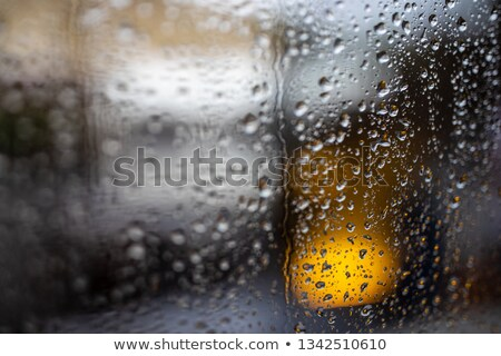 Rainy afternoon city  street through a window  Stock photo © lightpoet