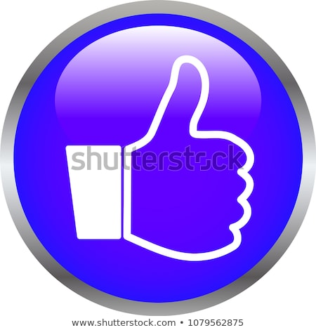 Colorful Shiny round button with Thumbsup mark  Stock photo © Blue_daemon
