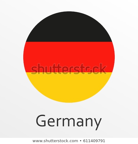 Sticker design for Germany flag Stock photo © colematt