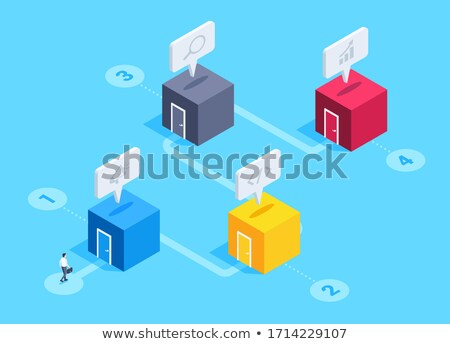 Traveling and location - modern vector colorful isometric elements Stock photo © Decorwithme