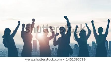 dedikált · csapat · leszállás · oldal · sablon · csapatépítés - stock fotó © robuart