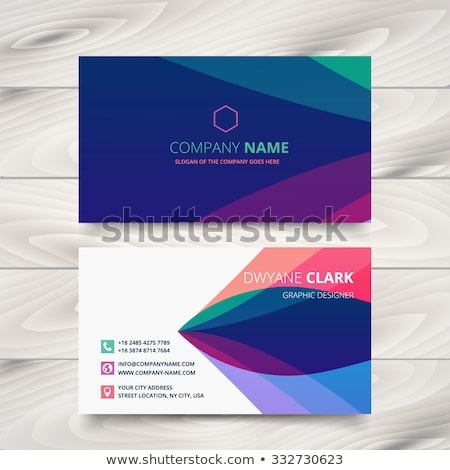 stylish company business card design Stock photo © SArts
