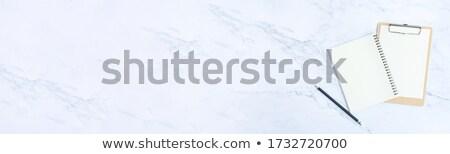 temizlemek · boş · gözlük · mermer · tablo · züccaciye - stok fotoğraf © Anneleven