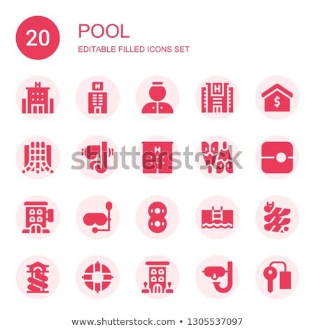 20 дайвинг оборудование Элементы градиент икона Сток-фото © Chanut_is_industries