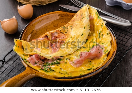 Omelette with ham  Stock photo © grafvision