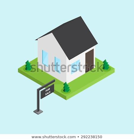 купить · аренда · знак · пост · 3D · дорожный · знак - Сток-фото © romvo