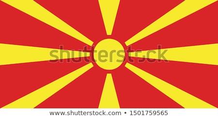 Macedonia bandera blanco grande establecer sol Foto stock © butenkow