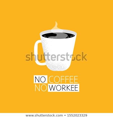 Café cartaz copo quente vapor silhueta Foto stock © robuart