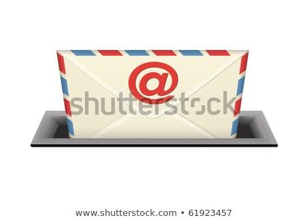 Lettre mail invitation fête anniversaire Photo stock © Zerbor