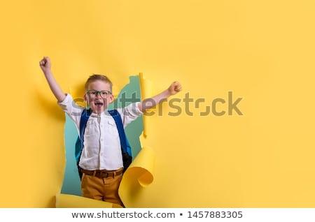 Gelukkig kinderen kleuterschool blijde weinig kinderen Stockfoto © liolle