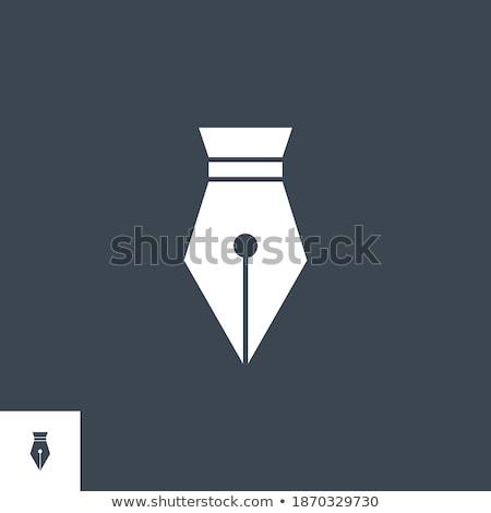 Pen related vector glyph icon. Stock photo © smoki