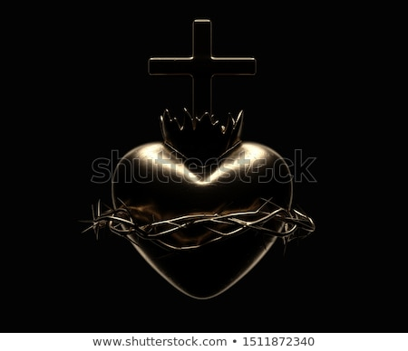 Sacred Heart of Jesus Casting Stock photo © albund