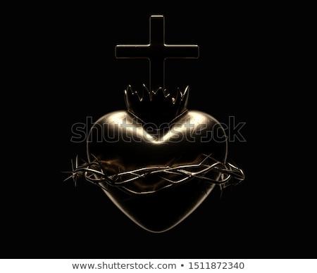 sacred heart of jesus casting stock photo © albund