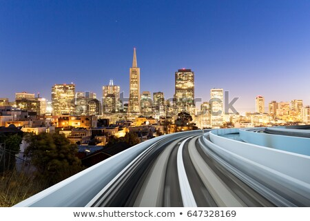 Floue cityscape San Francisco rue de la ville urbaine voiture Photo stock © dolgachov