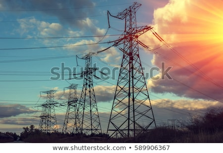 transmission towers and power line Stock photo © dolgachov