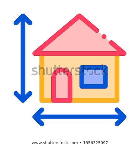 casa · tamaño · altura · vector · delgado · línea - foto stock © pikepicture