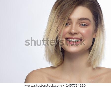 Szczęśliwy kobiet uśmiech zdrowych białe zęby Zdjęcia stock © serdechny
