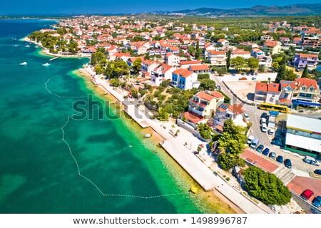 brodarica village near sibenik beach and coastline aerial view stock photo © xbrchx