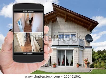 Home allarme telecomando bianco auto sicurezza Foto d'archivio © magraphics