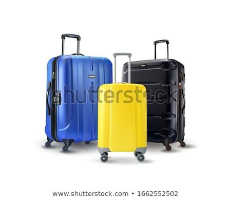 Bagaż bagażu walizkę koła turystyki odizolowany Zdjęcia stock © robuart