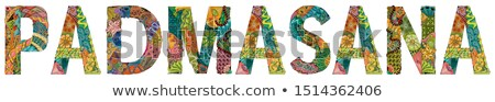 Word PADMASANA. Vector zentangle object for decoration Stock photo © Natalia_1947