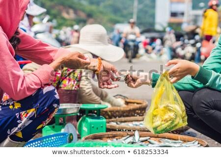Trasferire soldi mercato cucina asiatica alimentare Foto d'archivio © galitskaya