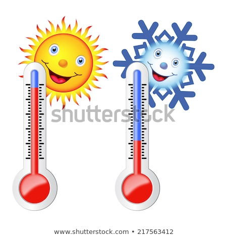 Сток-фото: Two Thermometers For Hot And Cold Weather