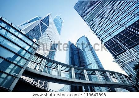 Imagen moderna edificios de oficinas central Hong Kong cielo Foto stock © galitskaya