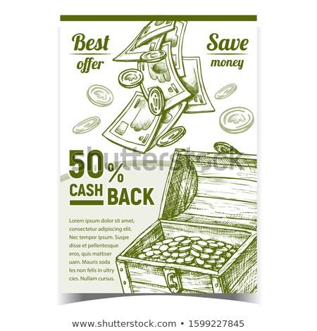 Trésorerie Retour commerciaux publicité affiche vecteur Photo stock © pikepicture