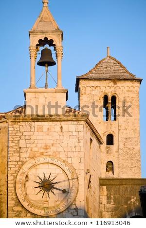 Relógio torre Croácia histórico centro céu Foto stock © borisb17