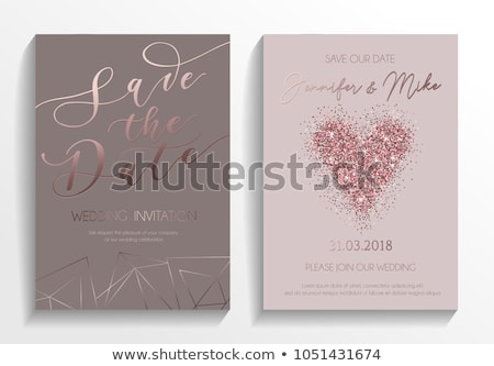 save the date invite card template Stock photo © ShustrikS