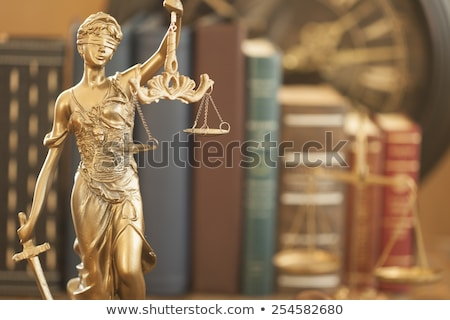 Gavel Golden Scale And Law Book Stock photo © AndreyPopov