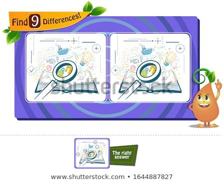 Livro leitura jogo diferenças crianças adultos Foto stock © Olena