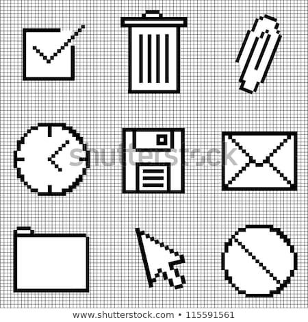 envelope into trash can on white background. Isolated 3D illustr Stock photo © ISerg