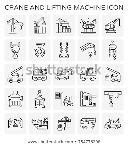 Winch Equipment Icon Vector Outline Illustration Stock photo © pikepicture