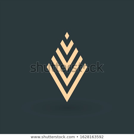Arrows in the shape of rhombus company logo design. Delivery concept. Stock Vector illustration isol Stock photo © kyryloff