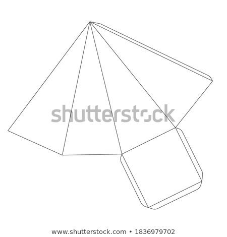 Papel pirâmide modelo quatro branco Foto stock © evgeny89