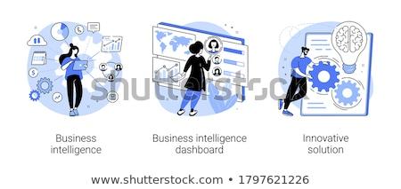 Działalności wektora metafora dywidenda obliczenie Zdjęcia stock © RAStudio