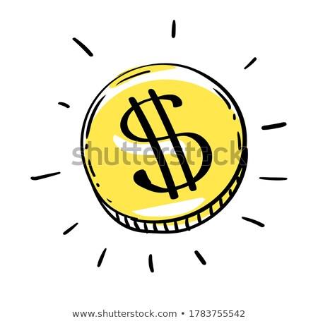 Een dollar munt usd amerikaanse geld Stockfoto © LoopAll