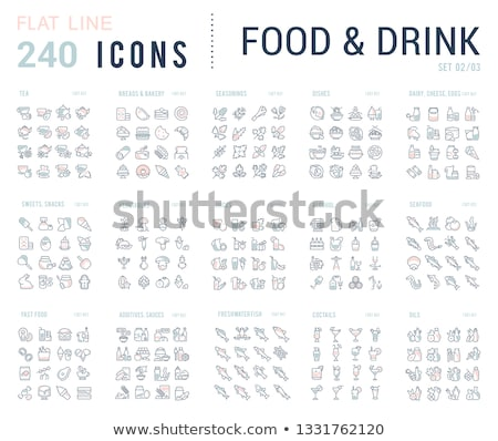 Cheese Dairy Food Collection Icons Set Vector Stock photo © pikepicture
