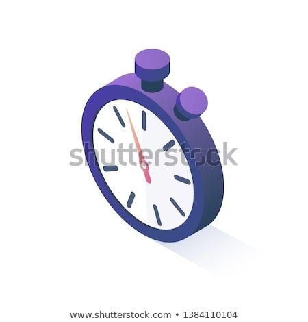 Concorrenza sport cronometro isometrica icona vettore Foto d'archivio © pikepicture