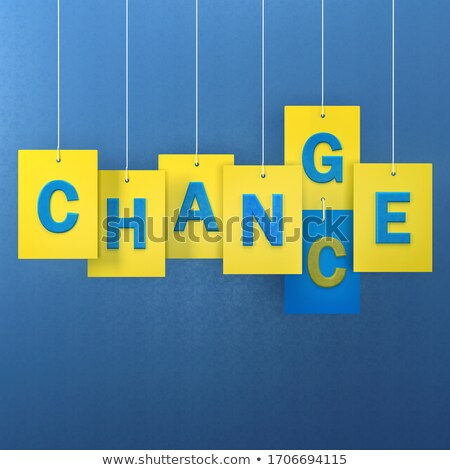change colorful words hang on rope stock photo © ansonstock