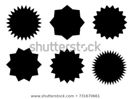 Yıldız afiş tüm elemanları ayrı ayrı Stok fotoğraf © sgursozlu